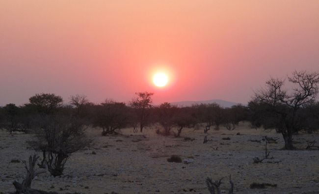 waterberg plateau sunset on kalahari plain