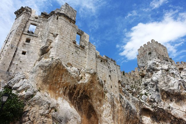 Moorish castle of zuheros which reminds of the muslim past