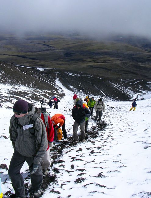 ascension du volcan Cotopaxi, jusqu'au refuge Jose ribas