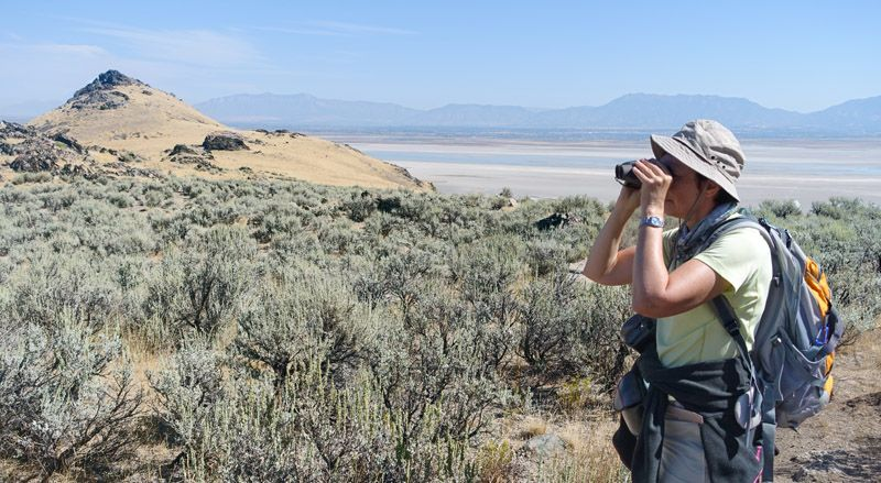 hiking on Antelope island state park