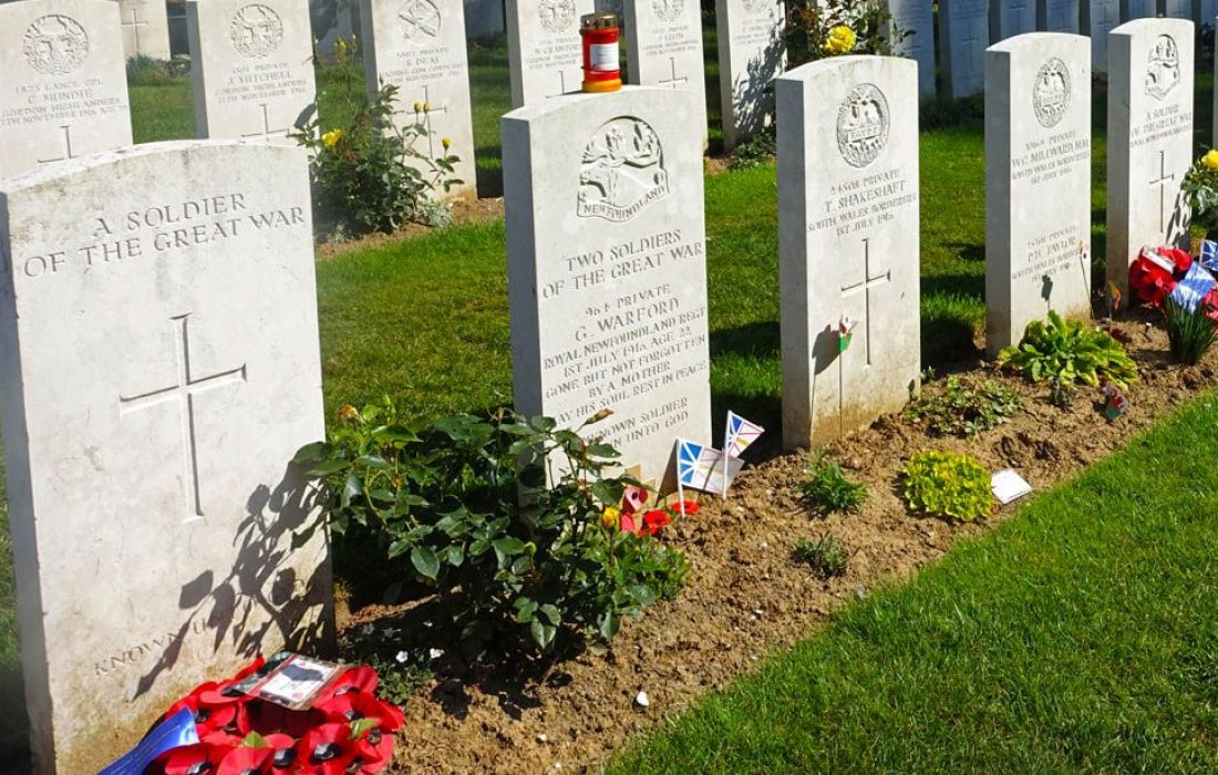 Battle of the Somme: in the footpath of unknown heroes