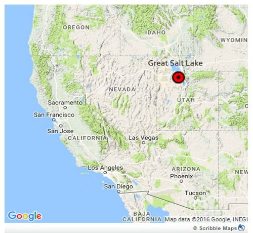 Position of salt lake city and island state park - roadtrip to the west in the usa