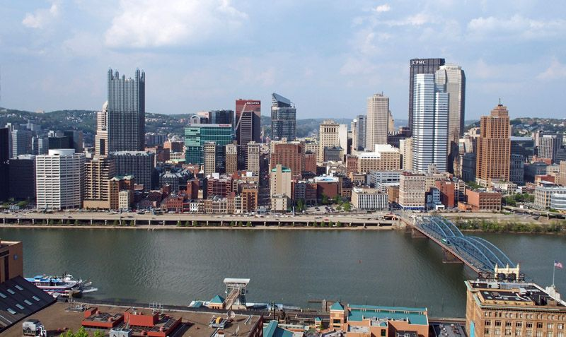Skyline de Pittsburgh vu du Mont Washington