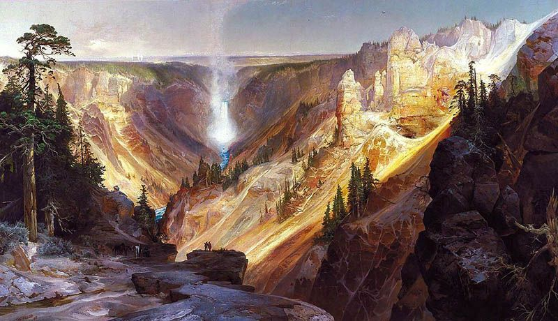 grand canyon of the yellowstone by thomas moran