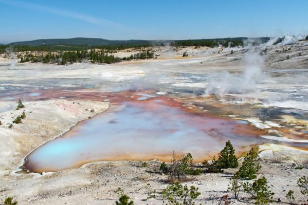 norris geyser basin parc national de yellowstone