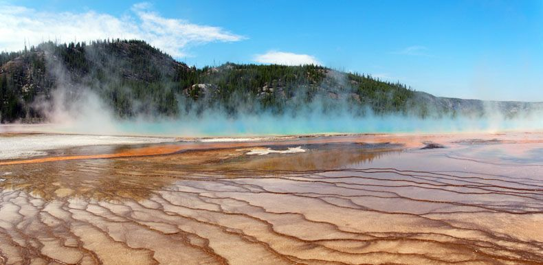 Grand Prismatic Spring parc national de yellowstone