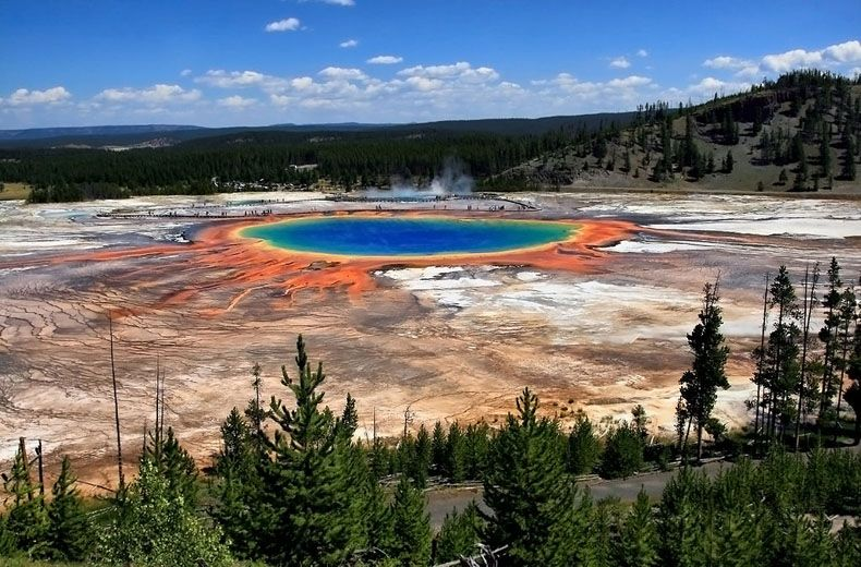 yellowstone grand prismatic spring midway geyser basin