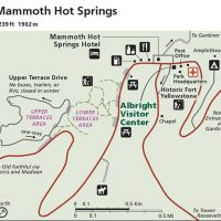 mammoth hot springs map