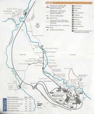 map upper geyser basin trail