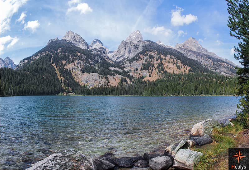 Glacial lake and teton range