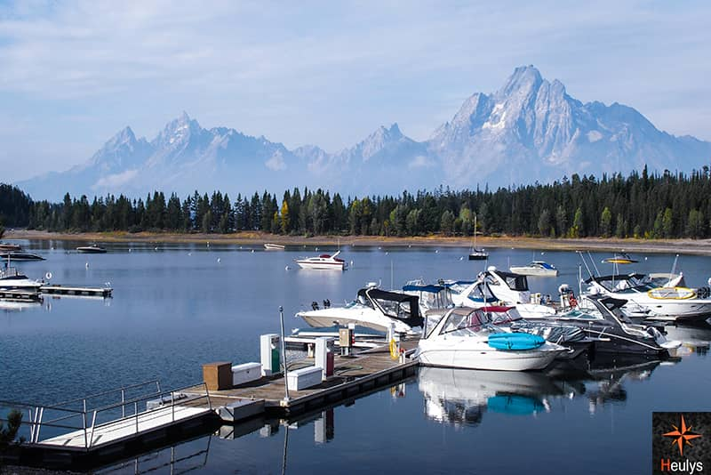 Colter Bay, on Jackson Lake in Grand teton national park