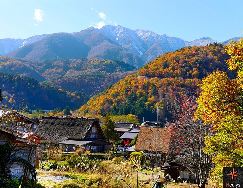 shirakawago village nestled in the japanese alps